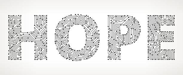 ilustrações de stock, clip art, desenhos animados e ícones de hope circuit board vector buttons. - hope