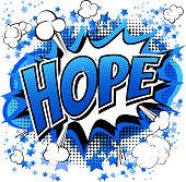 Hope - Comic book style word.