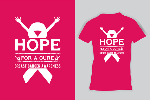 Hope For A Cure Breast Cancer Awareness T-shirts