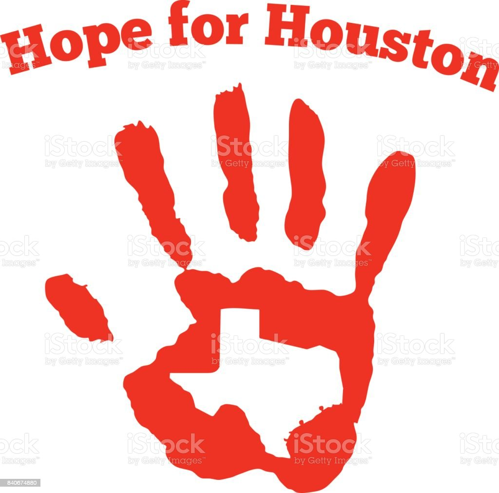 Hope for Houston graphic vector art illustration