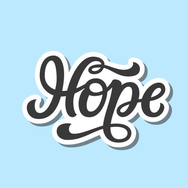 stockillustraties, clipart, cartoons en iconen met hoop. hand letterung - geloof