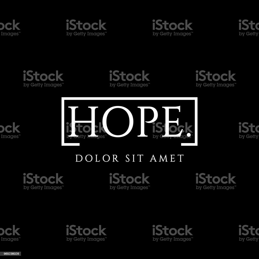 Hope Vector Template Design royalty-free hope vector template design stock vector art & more images of abstract