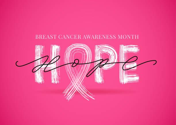 希望字與粉紅色絲帶符號。乳癌意識月。向量插圖。 - optimistic 幅插畫檔、美工圖案、卡通及圖標