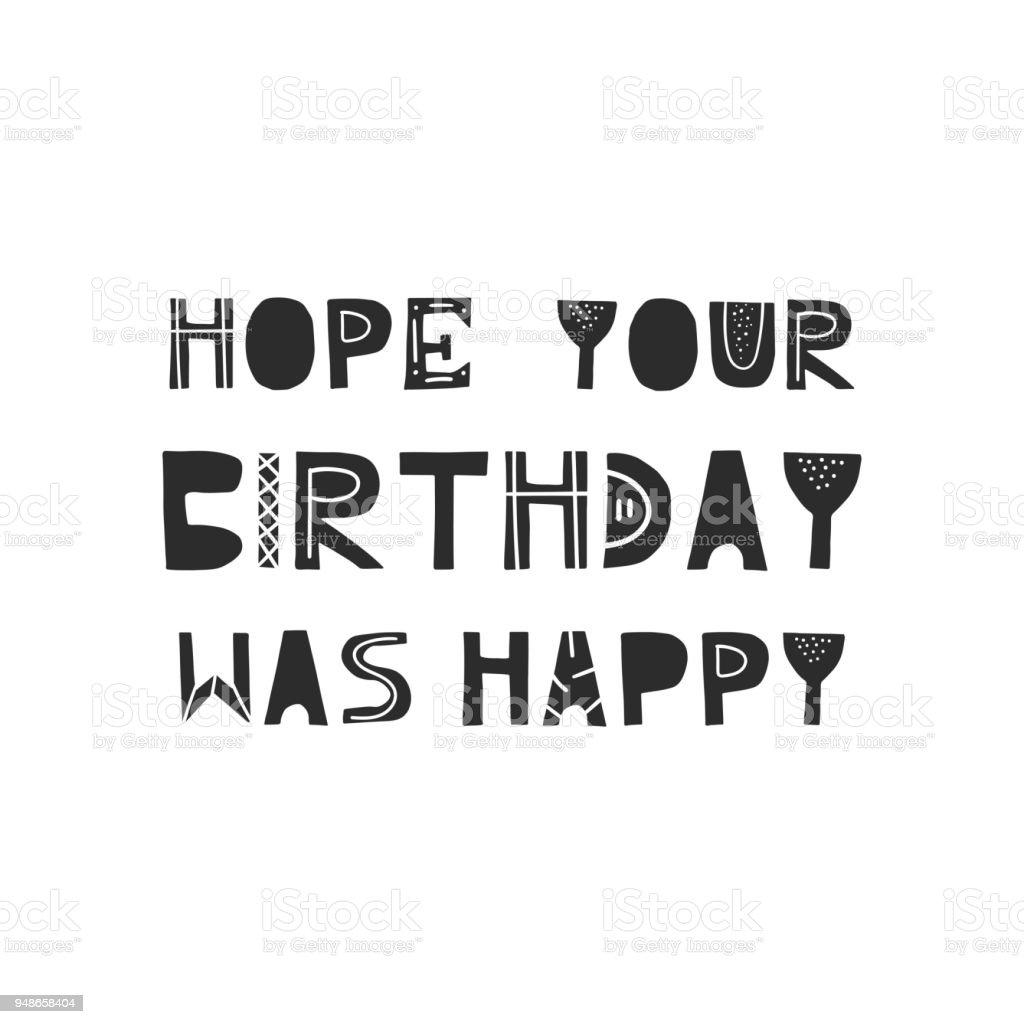 あなたの誕生日が幸せ 北欧風のレタリングをかわいい手描き下ろし保育園