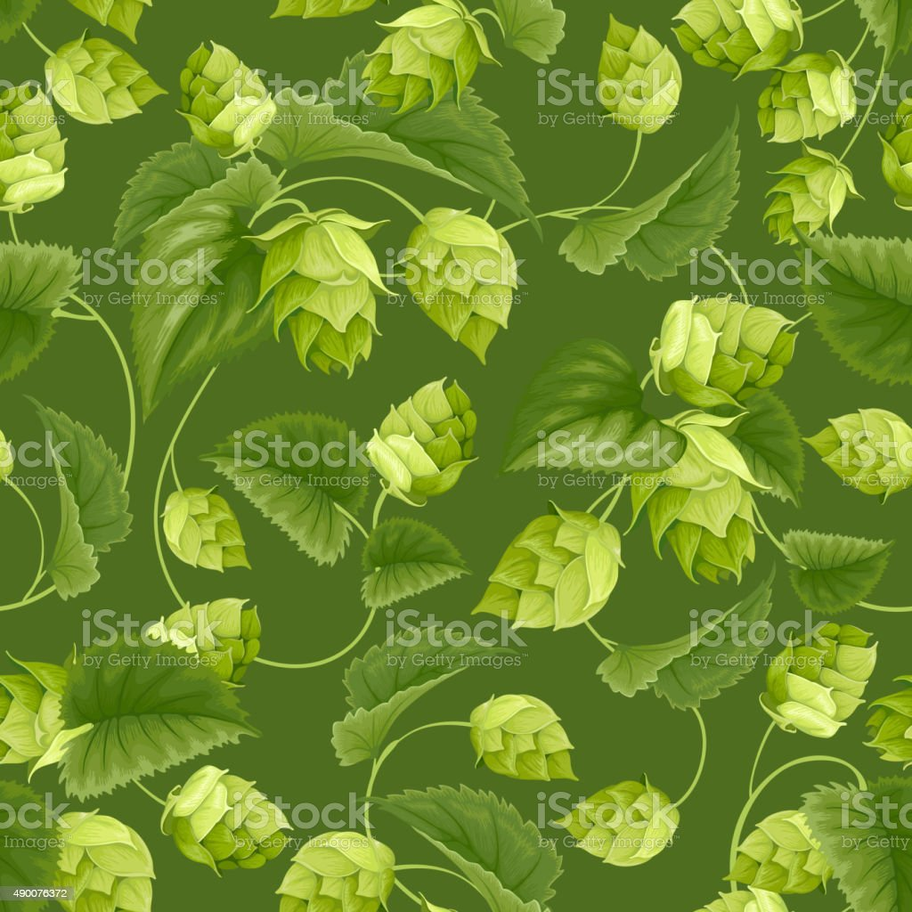 Hops vector art illustration