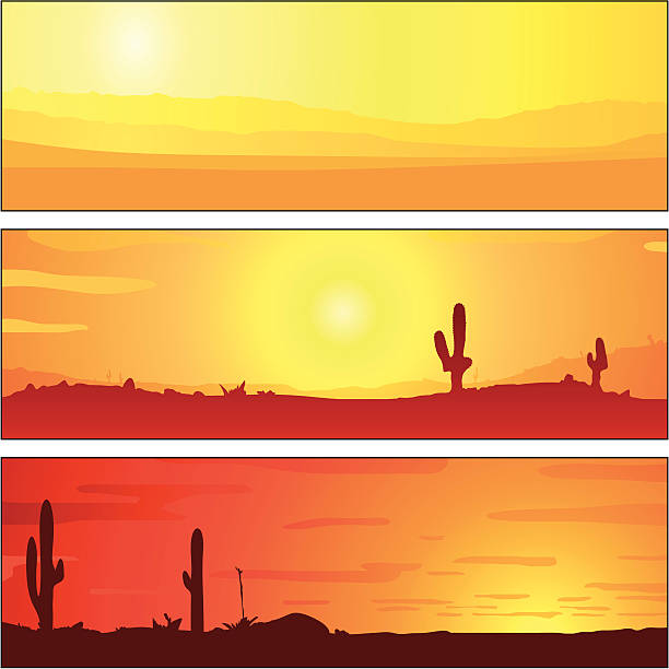 Horizon Sunset Tablets vector art illustration