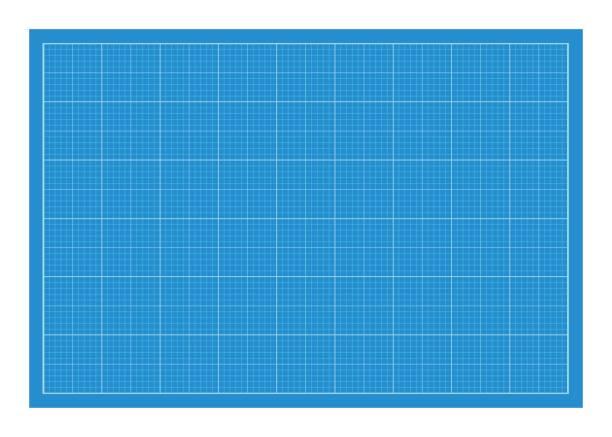 Horizontal a4 format blueprint template. vector art illustration