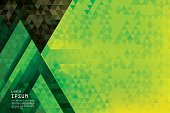 Horizontal abstract triangles geometric background- Pine Forest.