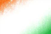 A horizontal vector illustration of tricolour flag in three bands in saffron, white and green colors. The orange and green at the top and bottom, blend into the off white central band. A peaceful patriotic theme faded wallpaper. Apt for use of national festivals of India like Republic Day and Independence Day. Same colours also appear in flags of Niger, Ireland and Côte d'Ivoire (Ivory Coast).