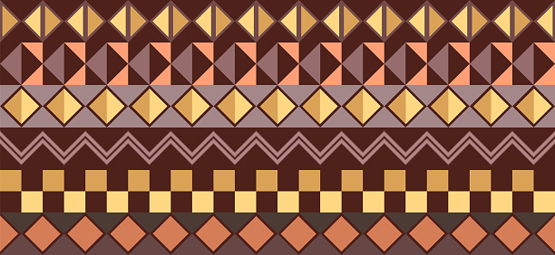 Horizontal background - traditional african pattern
