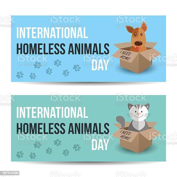 Horizontal banner for international homeless animals day cat and dog vector id587543490?b=1&k=6&m=587543490&s=612x612&h=j6tk7iekf2a3tpiuop4qjckosiog 69qu8l4y8sj1u4=