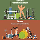 horizontal banners - bodybuilding and fitness