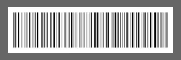 horizontal black bar code on white paper sticker for pattern and design,vector illustration - kod kreskowy stock illustrations