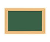 Horizontal blackboard hanging isolated on white background