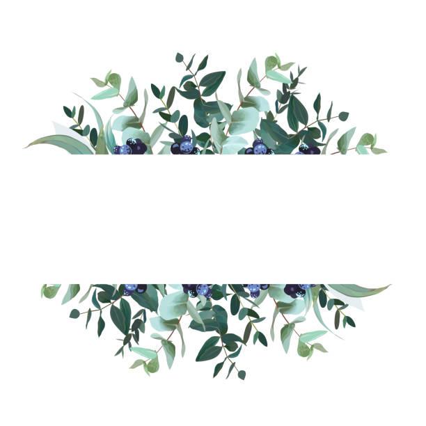 horizontale botanische vektor design banner - laub winter stock-grafiken, -clipart, -cartoons und -symbole