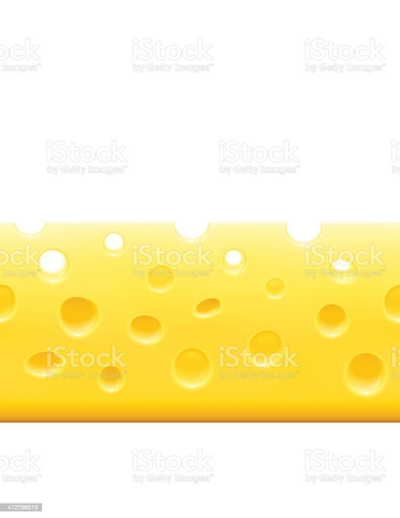 Horizontal Cheese Background royalty-free stock vector art