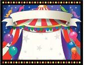 horizontal circus theme background  frame