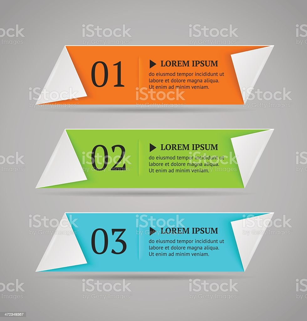Horizontal colorful options banner template. royalty-free stock vector art