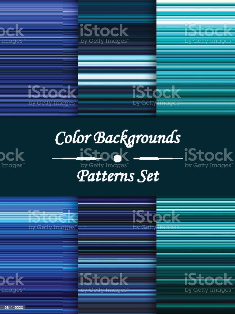 Horizontal colorful stripes abstract background, stretched pixels effect, seamless patterns, set horizontal colorful stripes abstract background stretched pixels effect seamless patterns set - immagini vettoriali stock e altre immagini di acqua royalty-free