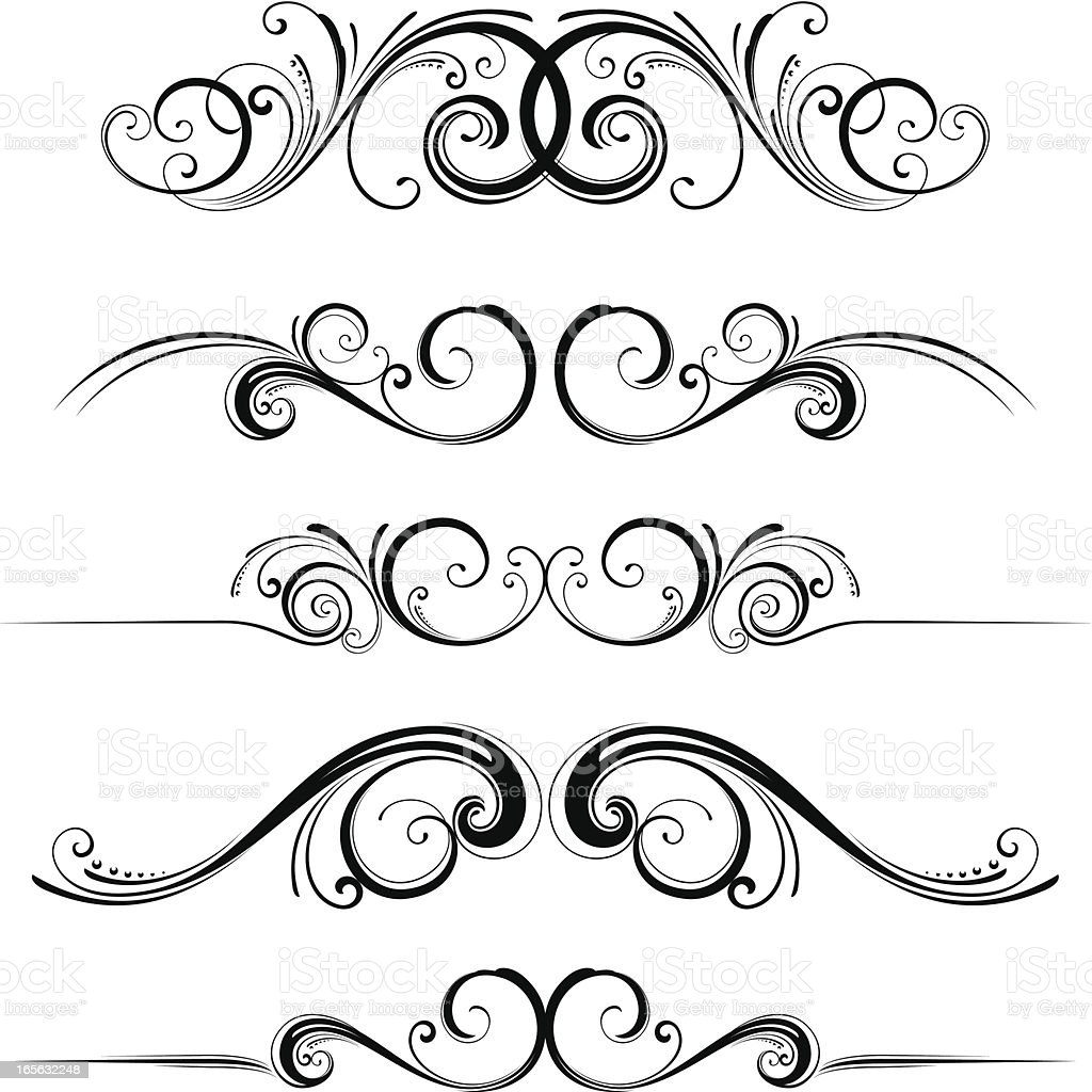 Horizontal dividers royalty-free stock vector art