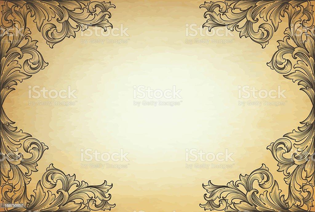 Horizontal Engraved Corners royalty-free stock vector art