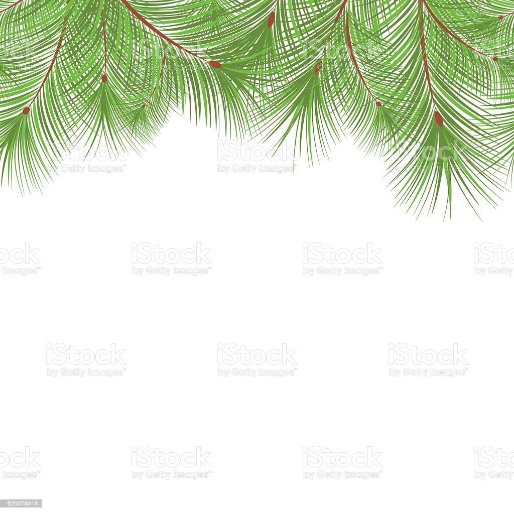 Horizontal fir tree branches frame for Christmas card horizontal fir tree branches frame for christmas card - stockowe grafiki wektorowe i więcej obrazów abstrakcja royalty-free