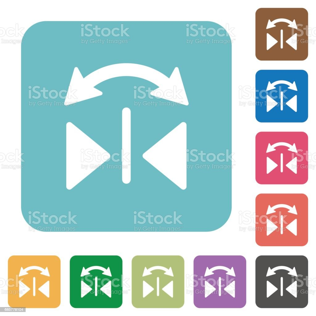 Horizontal flip square flat icons royalty-free horizontal flip square flat icons stock vector art & more images of applying