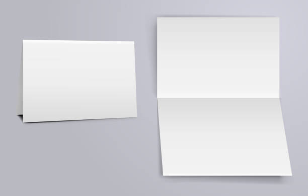 horizontal fold - greeting cards templates stock illustrations