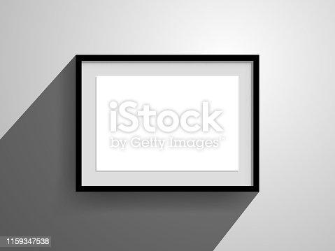 wallmounted frame mockup