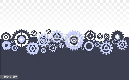 horizontal template made of gears