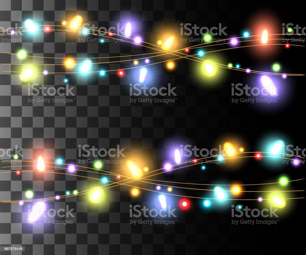 Horizontale Leuchtende Licht Bunte Lampen Design Fur Urlaub