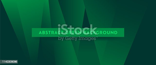 Dark green horizontal abstract banner with place for text.