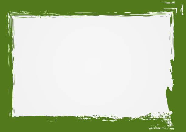 illustrations, cliparts, dessins animés et icônes de fond grunge horizontal avec cadre vert. dessiné avec une brosse rugueuse. - charpente