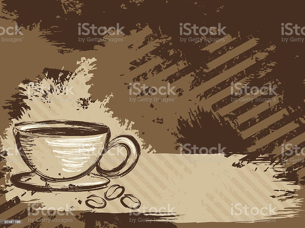 Horizontal grungy coffee background royalty-free horizontal grungy coffee background stock vector art & more images of backgrounds