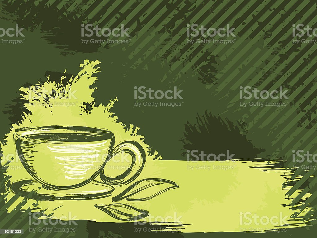 horizontal grungy green tea background royalty-free horizontal grungy green tea background stock vector art & more images of backgrounds