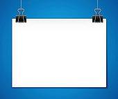 Horizontal Hanging Paper Template