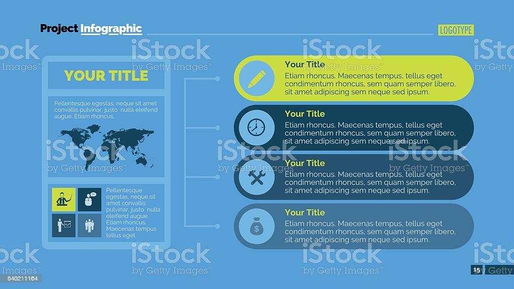 Horizontal Infographic Chart royalty-free stock vector art