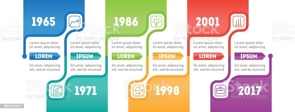 Horizontal Infographic Timeline Time Line Of Social