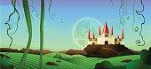 istock Horizontal Landscape Castle Background 472274897