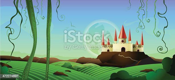 Horizontal castle background landscape. This file has an alternate file that you get with the purchase of this file which is much more horizontal.