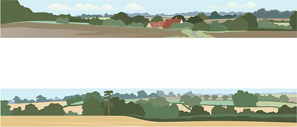 horizontale landschaften - landstraße stock-grafiken, -clipart, -cartoons und -symbole