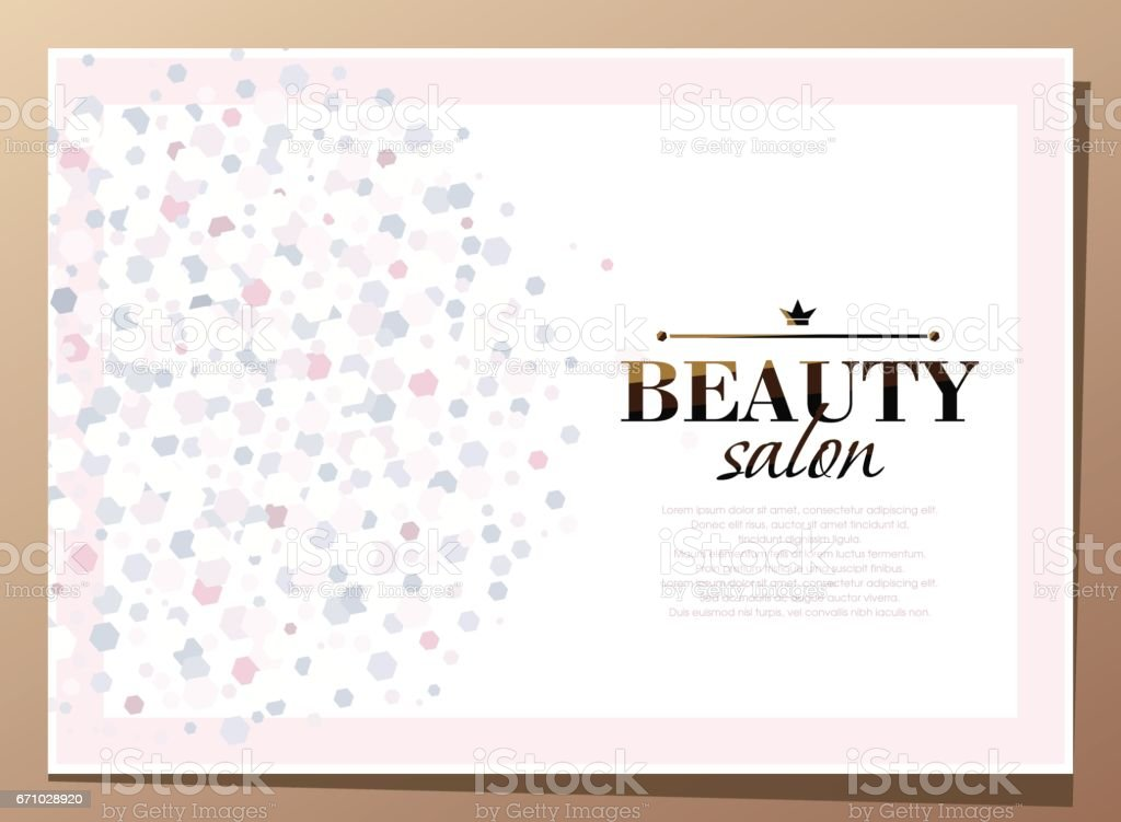Horizontal  light pink and white beauty background with graphic elements. ベクターアートイラスト