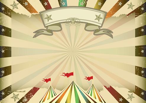 Horizontal multicolor circus