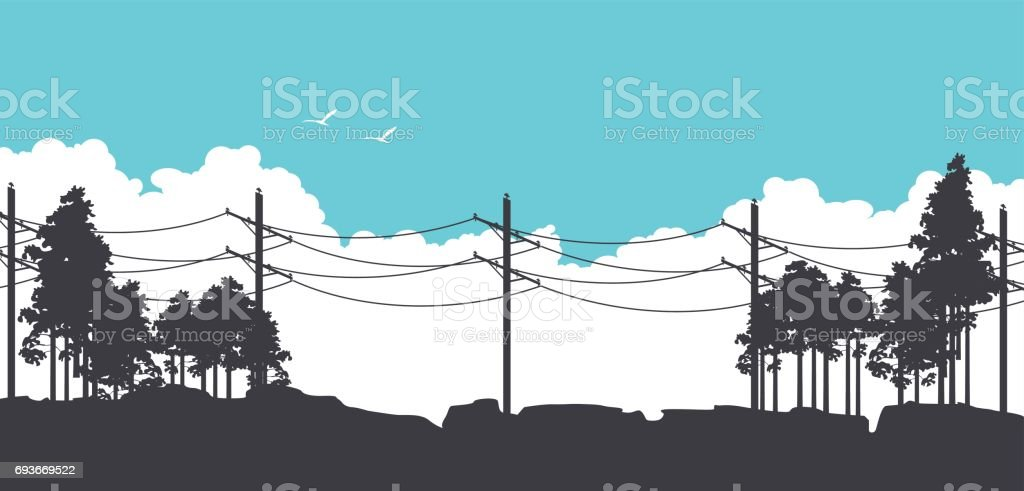 Horizontal nature banners vector art illustration