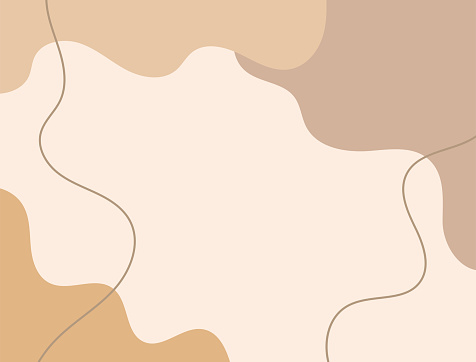Horizontal neutral background with abstract shapes. Drawn by hand. Modern vector illustration.