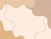 istock Horizontal neutral background with abstract shapes. Drawn by hand. Modern vector illustration. 1278611958