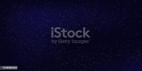 istock Horizontal night sky background. Vector abstract background. 1048390434