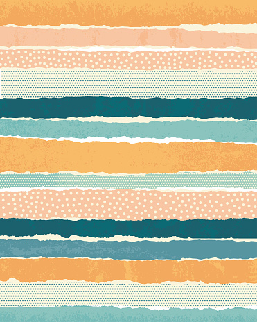 Horizontal paper stripes collage background