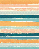 Vector background made of horizontal paper stripes.