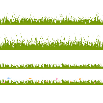 Horizontal patterns with grass